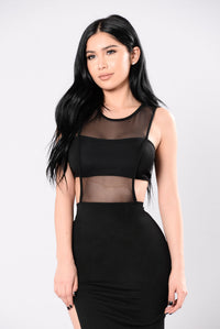 Take My Heart From You Dress - Black