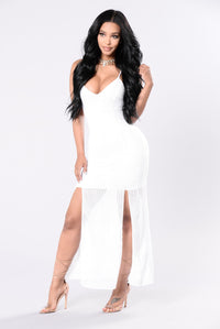 Fix Your Inner Issues Dress - White