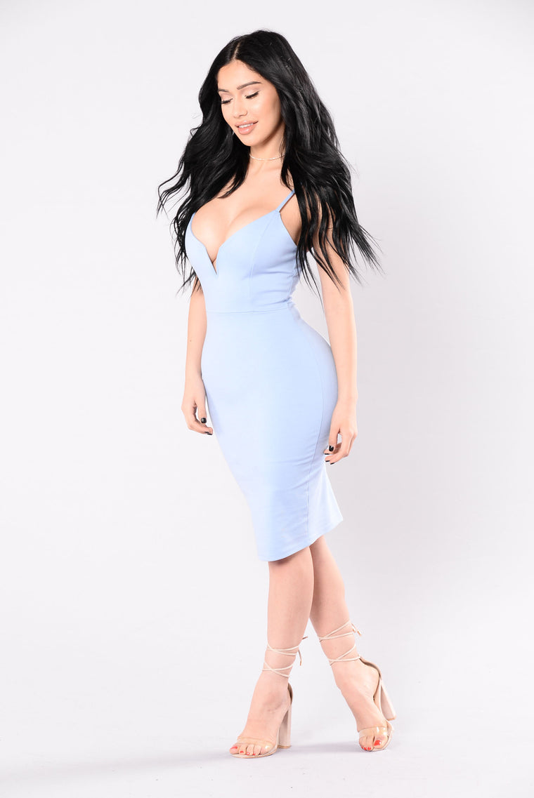 Take Me Home Tonight Dress - Light Blue