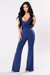 Room Full Of Dancers Jumpsuit - Navy