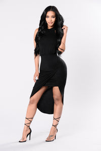 Right Back At You Dress - Black