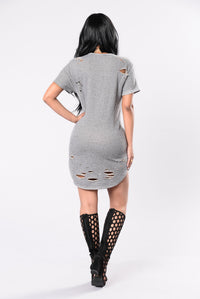 Mass Destruction Tunic - Heather Grey