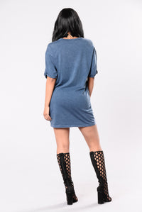 Turn Up The Music Tunic - Blue