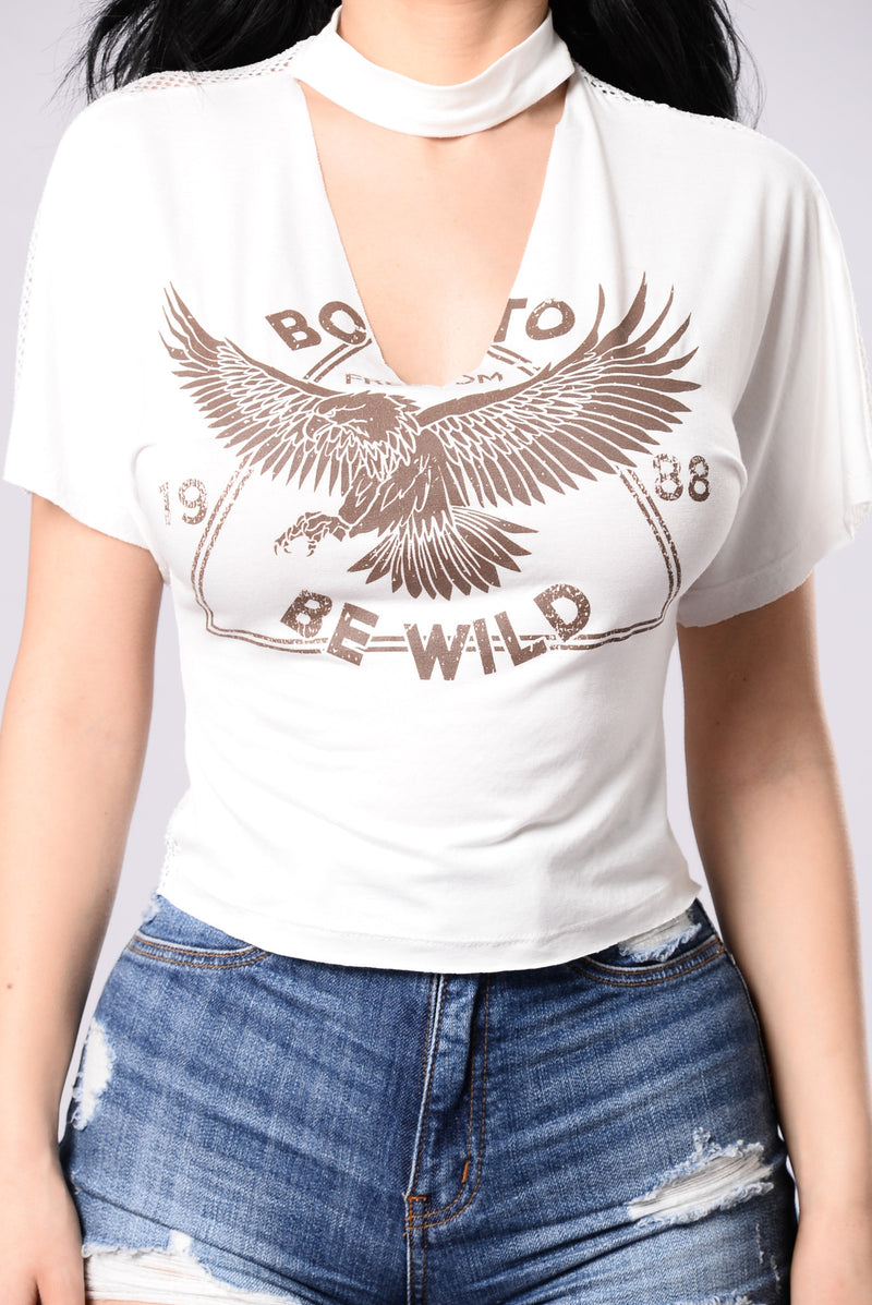 Born To Be Wild Top - White