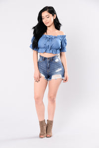 Sweet Touch Top - Denim Blue