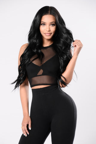 Love Never Felt So Good Top - Black