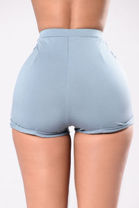 Can't Beat Me Shorts - Dusty Blue