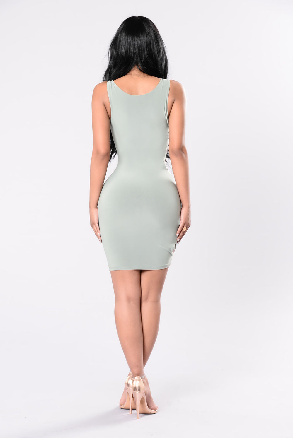See It To The End Dress - Sage