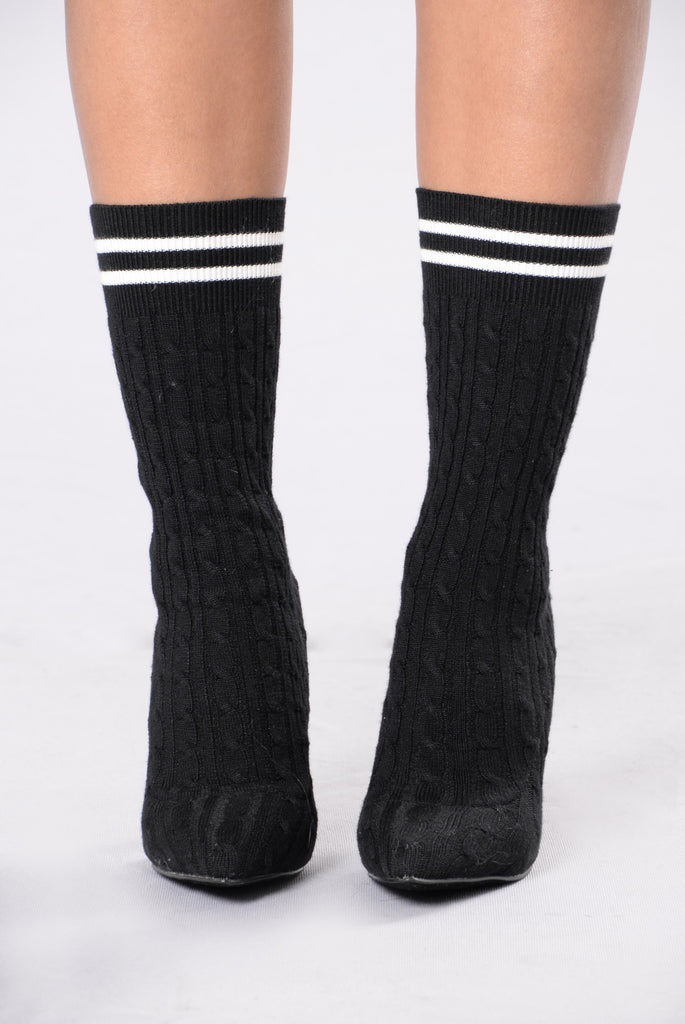 Little League Knit Boot - Black