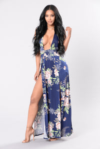 Seductive Ways Dress - Navy