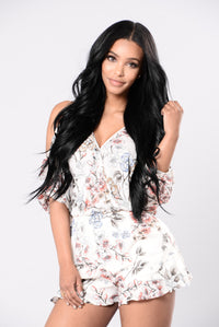 Soul So Sweet Romper - Light Taupe