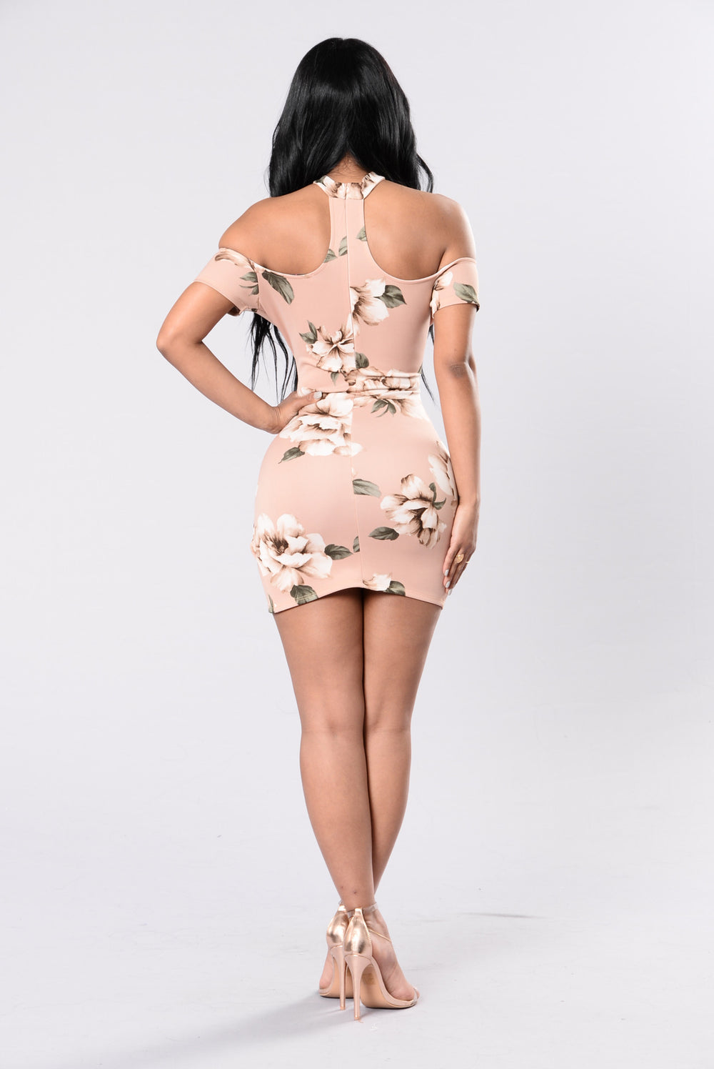 How Deep Is Your Love Dress - Blush