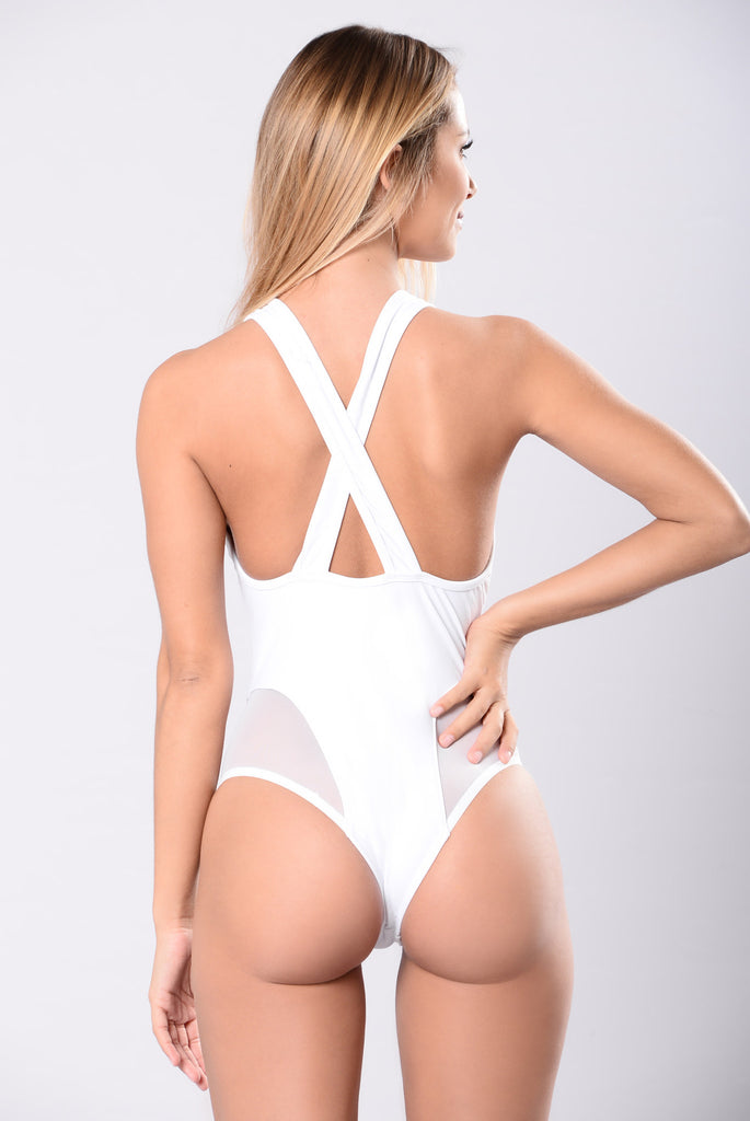 It's An Illusion Swimsuit - White
