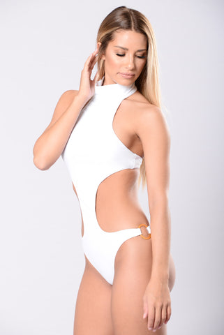 Stuck In The Moment Monokini - White