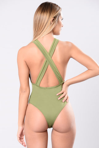 Deeper Water Swimsuit - Kale