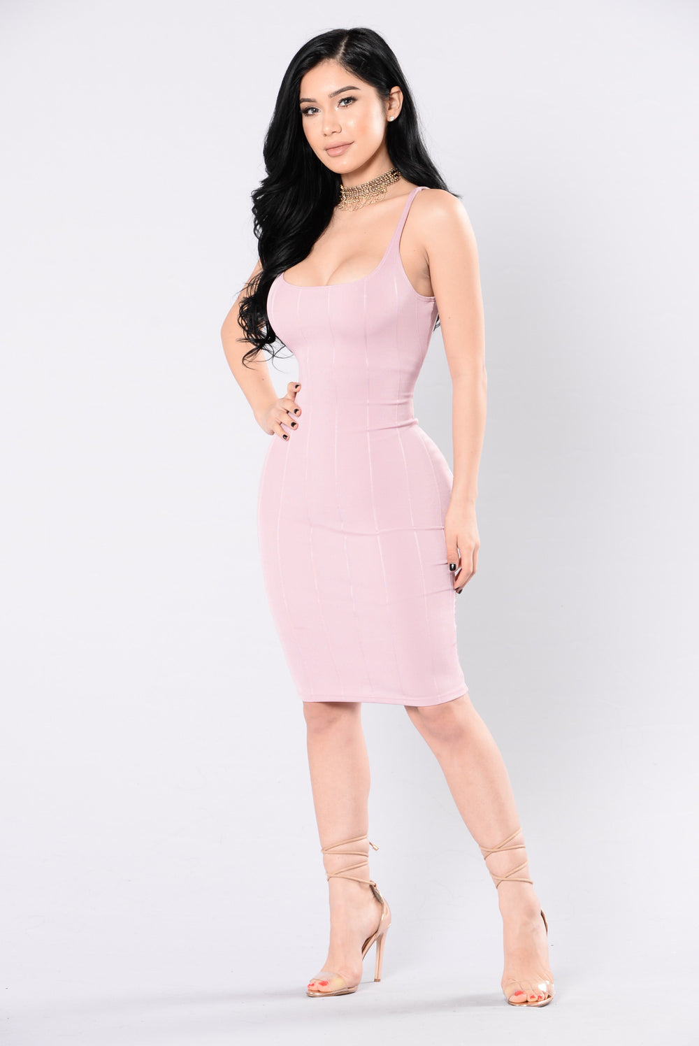 See Me In The Fast Lane Dress - Mauve
