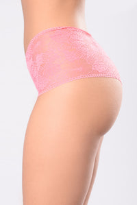 Here Kitty Kitty Panty - Coral