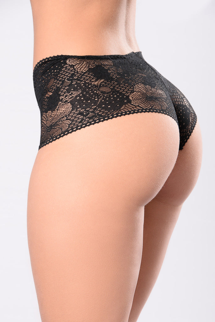 Here Kitty Kitty Panty - Black