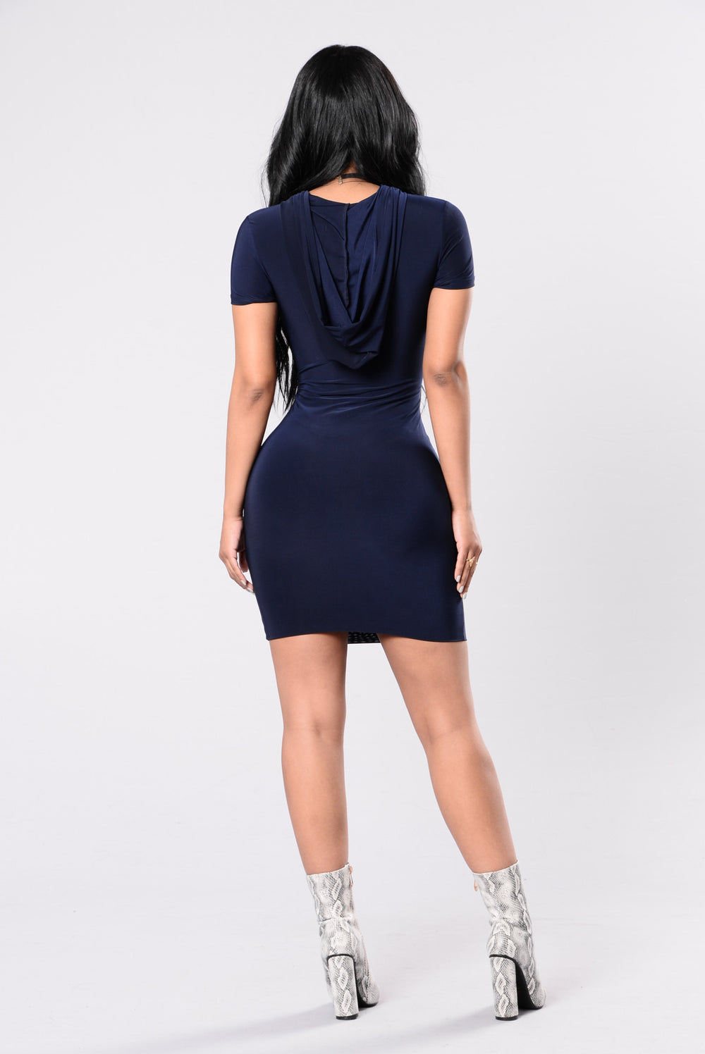 With Or Without You Dress - Dark Navy