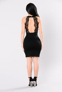 Turn Up In The Club Dress - Black