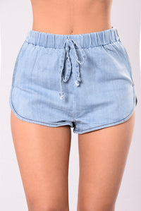 Lets Have Fun Shorts - Light Blue