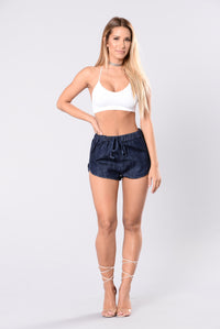 Lets Have Fun Shorts - Dark Blue