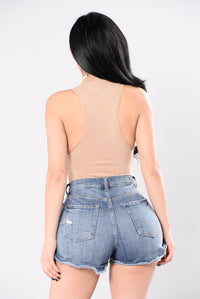 Easy Choice To Make Bodysuit - Nude