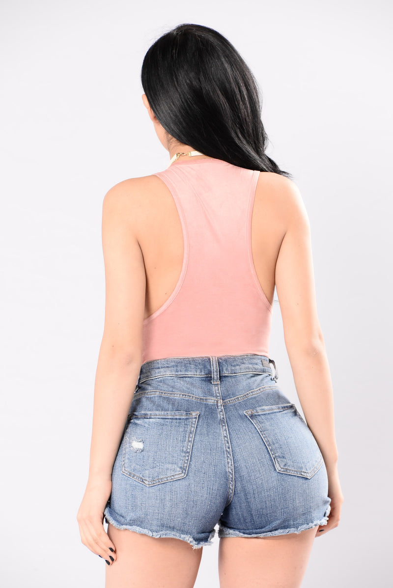 Easy Choice To Make Bodysuit - Mauve