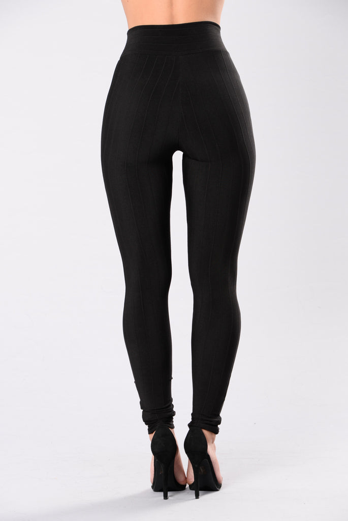Mind Your Own Business Pants - Black