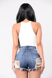 Soft Lips Bodysuit - White