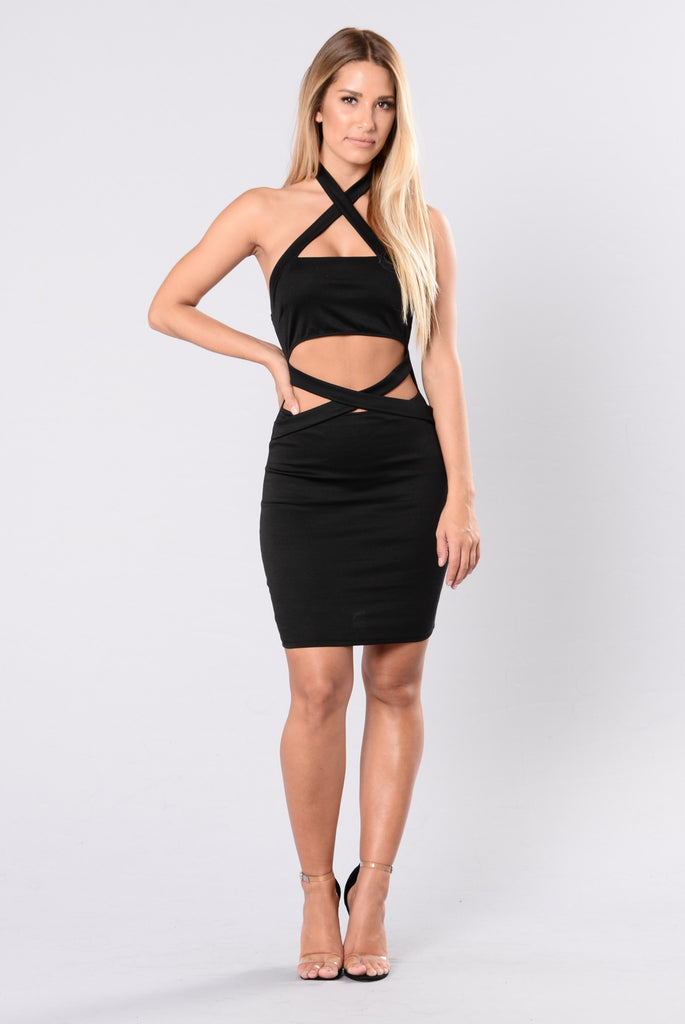 Baby I'm Back With You Dress - Black