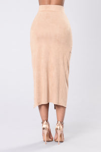 Bend It And Snap Skirt - Nude