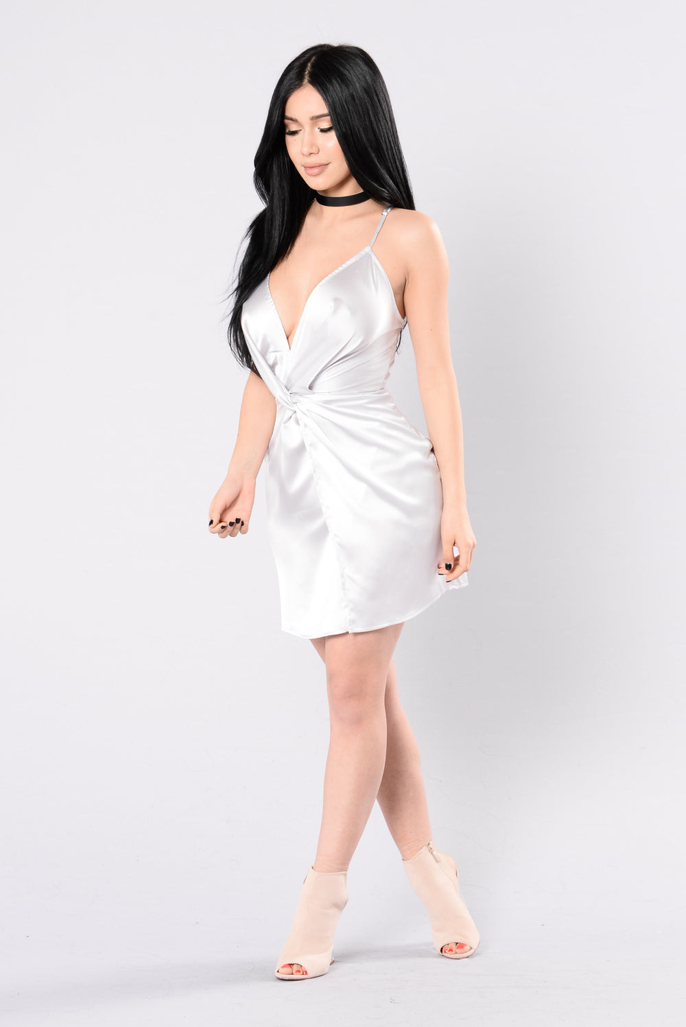 In Your Sweetest Dreams Dress - Silver