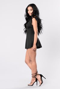 Drive Him Crazy Romper - Black