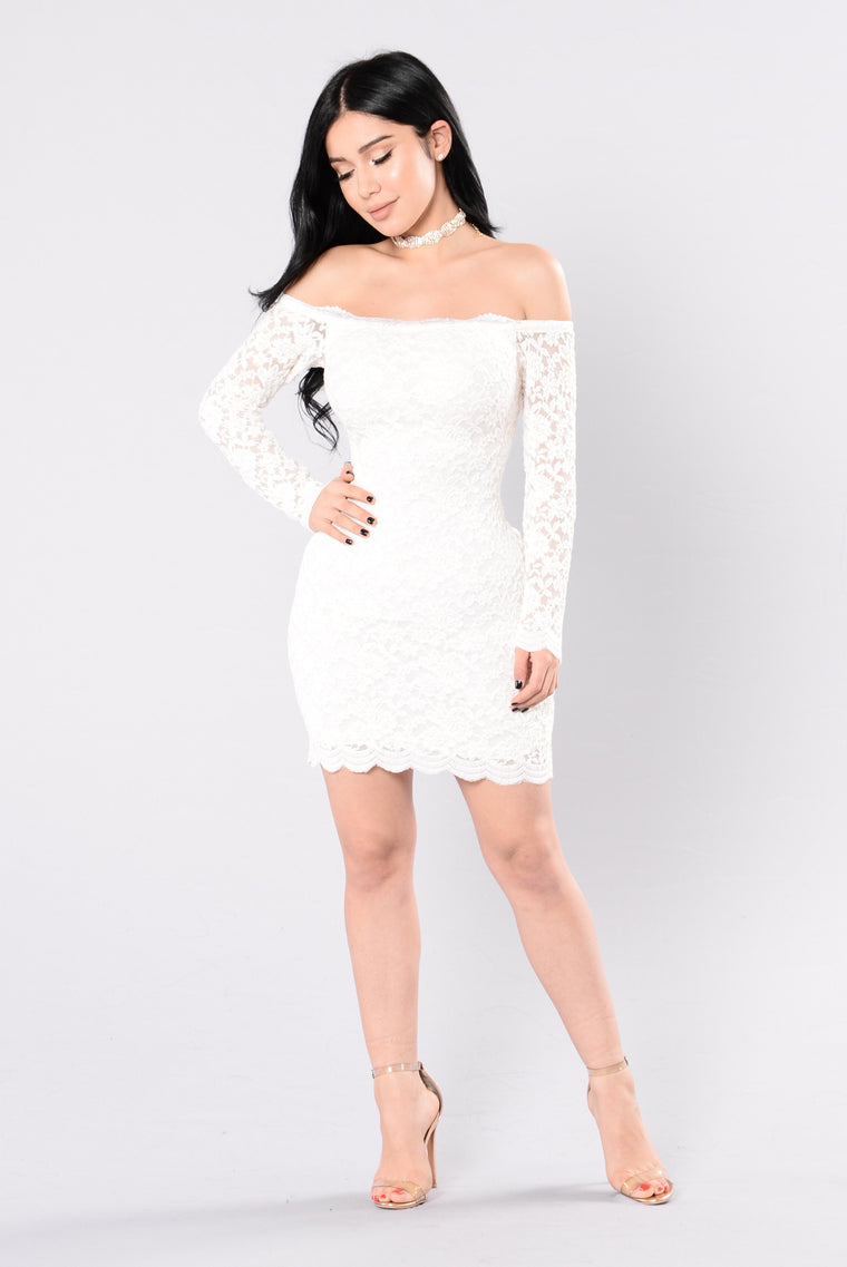 03dae00271c Off Shoulder Lace Bodycon Dress - White
