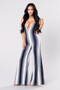 Life is Good Jumpsuit - Navy