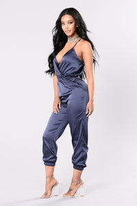 On Your Own Jumpsuit - Navy