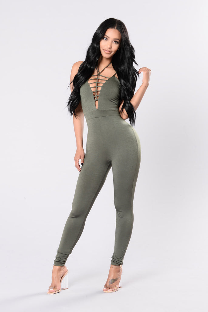 Can't Stop Me Jumpsuit - Olive