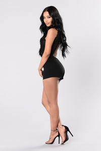 When I'm With You Romper - Black