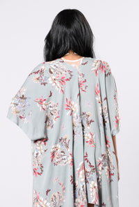 Memories Are Made Of This Kimono - Sage Floral