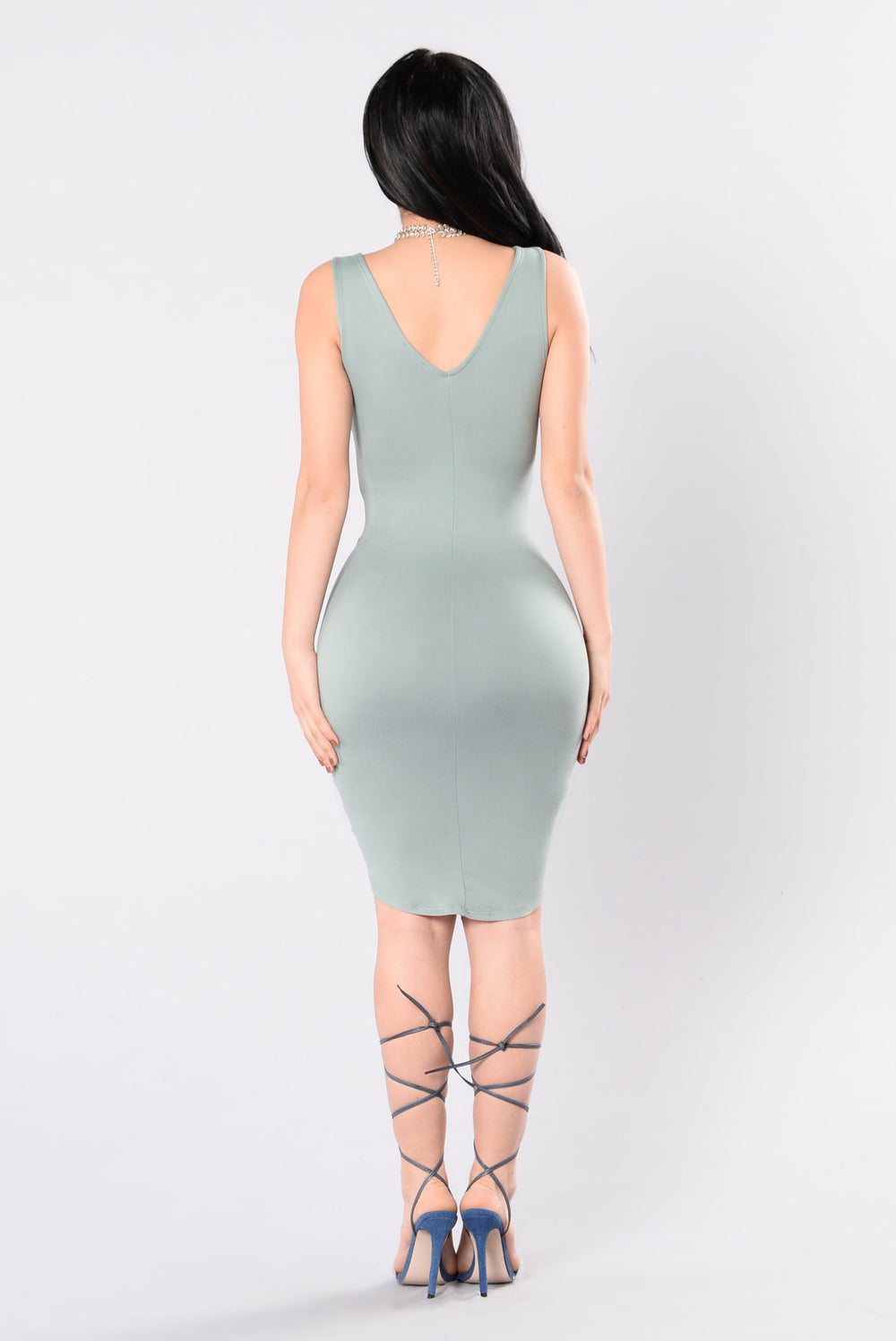 Pour The Champagne Dress - Dusty Sage