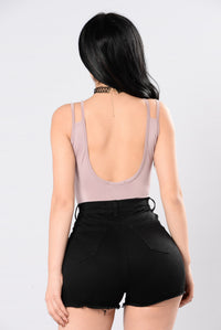 Burn Up The Dance Floor Bodysuit - Mauve