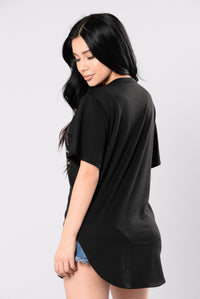 Stealing Your Attention Tunic - Black