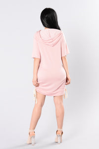 You're All Mine Tunic - Dark Blush