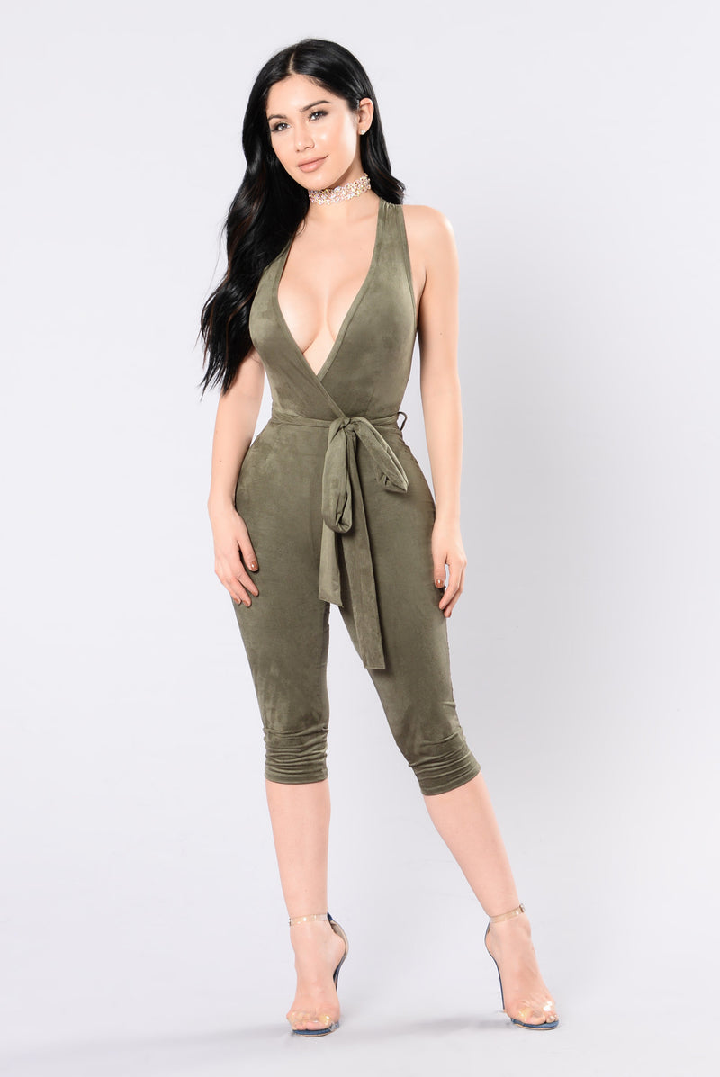 It's Your Thing Jumpsuit - Olive
