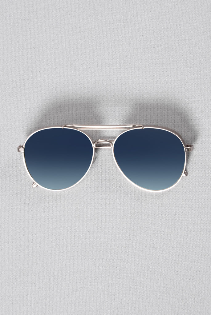Miami Beach Sunglasses - Blue/Silver