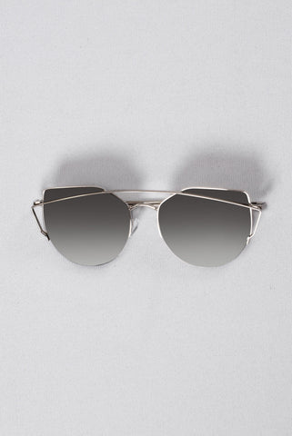 Just Be Your Selfie Sunglasses - Silver