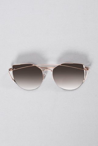 Just Be Your Selfie Sunglasses - Gold