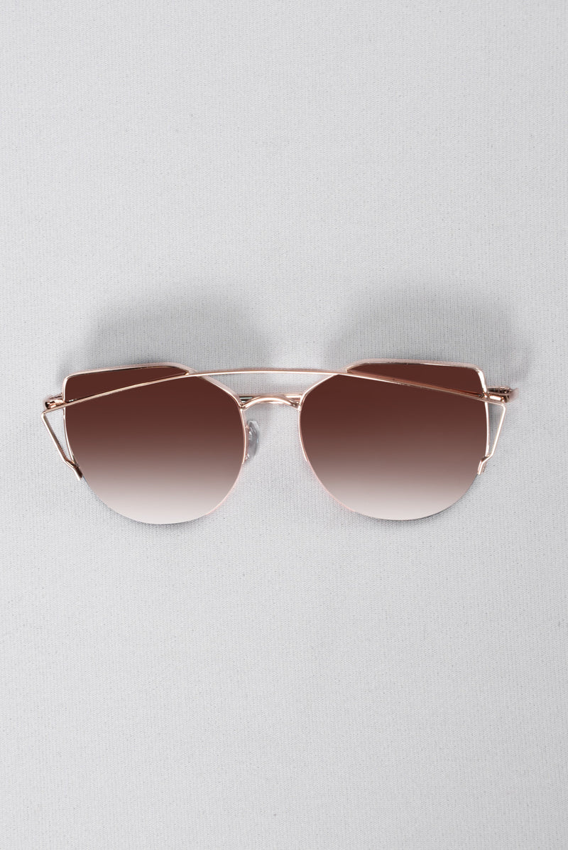 Just Be Your Selfie Sunglasses - Rose Gold