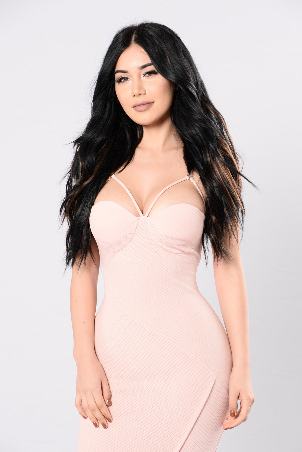Slick Talk Dress - Peach
